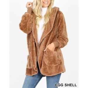 New! Tan Soft Fur Sherpa Coat Bundle 2 For $49